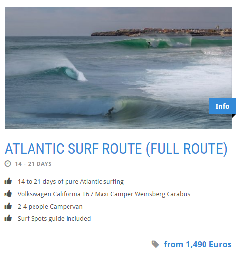 atlantic sourf route campervan